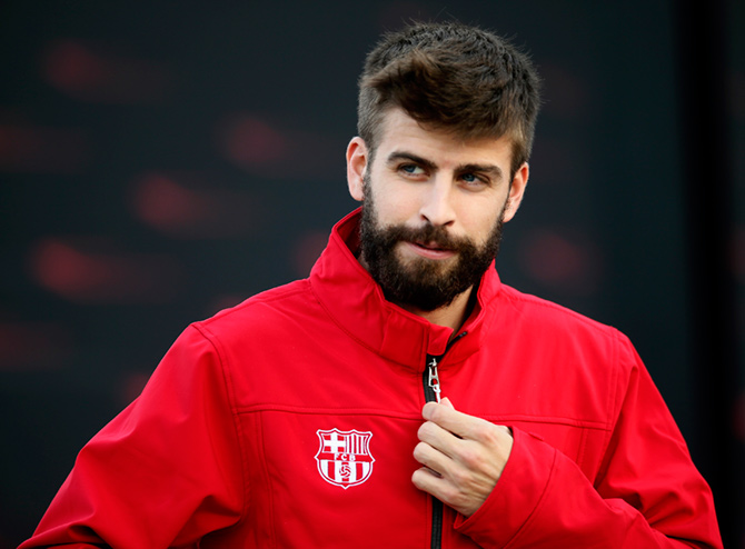 Rediff Sports - Cricket, Indian hockey, Tennis, Football, Chess, Golf - Gerard Pique and Jordi Alba ruled out with injuries for Barcelona
