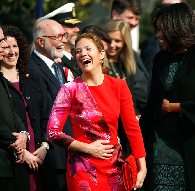 sophie trudeau and michelle obama