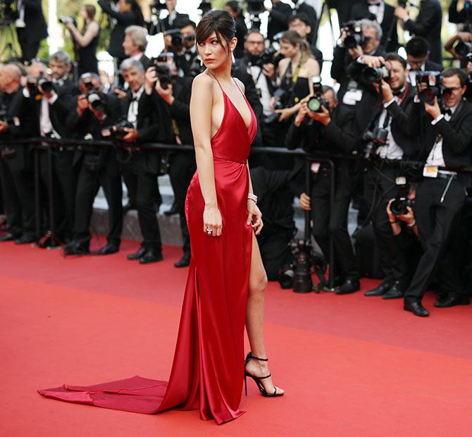 Hot or HOT? Bella Hadid goes commando at Cannes