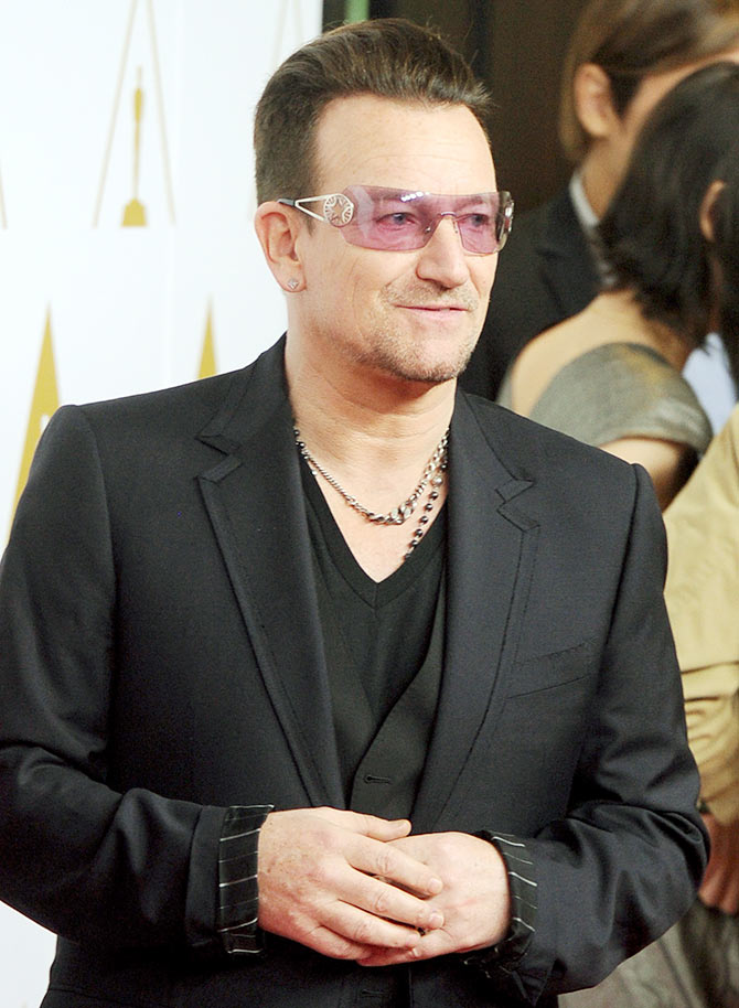 Bono, musician and frontman of rock band U2