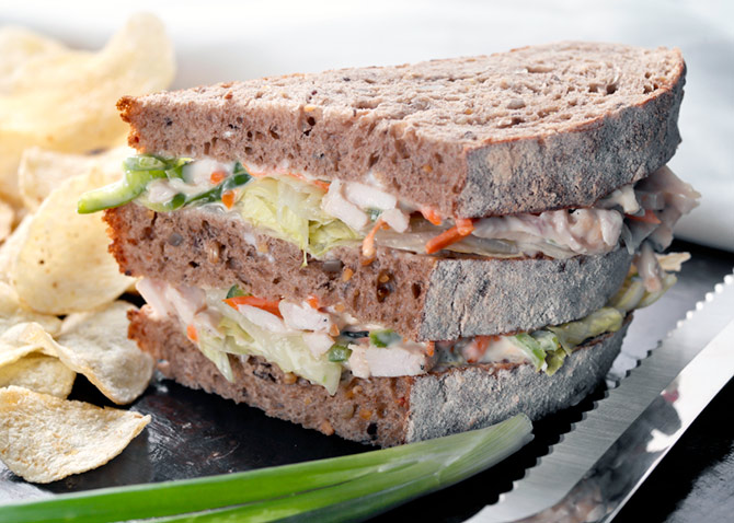 Multigrain Yogurt Coleslaw Sandwich