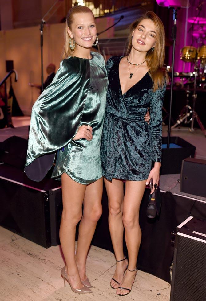 Toni Garrn and Alina Baikova