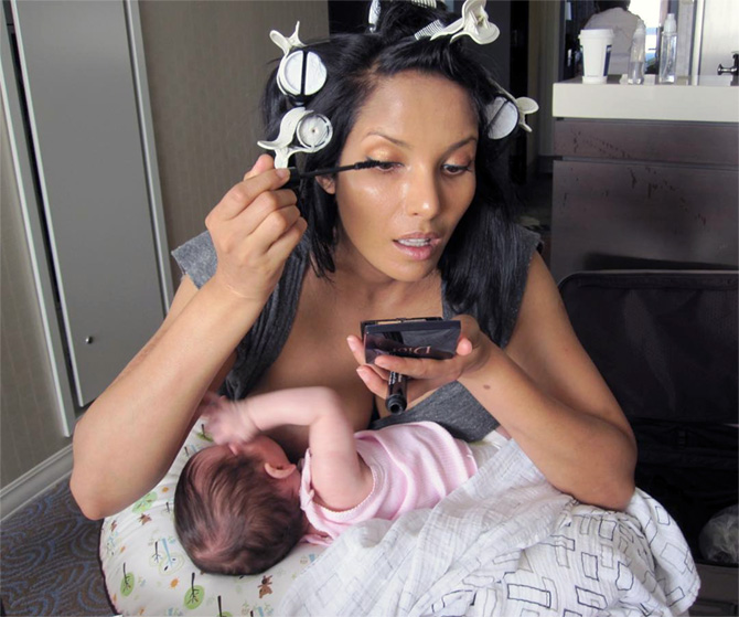 Padma Lakshmi breastfeeding