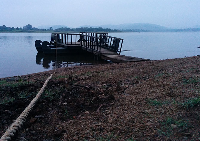 The jetty on the Kabini River