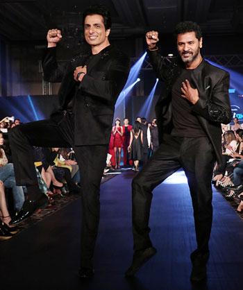 Latest News from India - Get Ahead - Careers, Health and Fitness, Personal Finance Headlines - Men in black: Prabhu Deva, Sonu Sood ramp up the fun