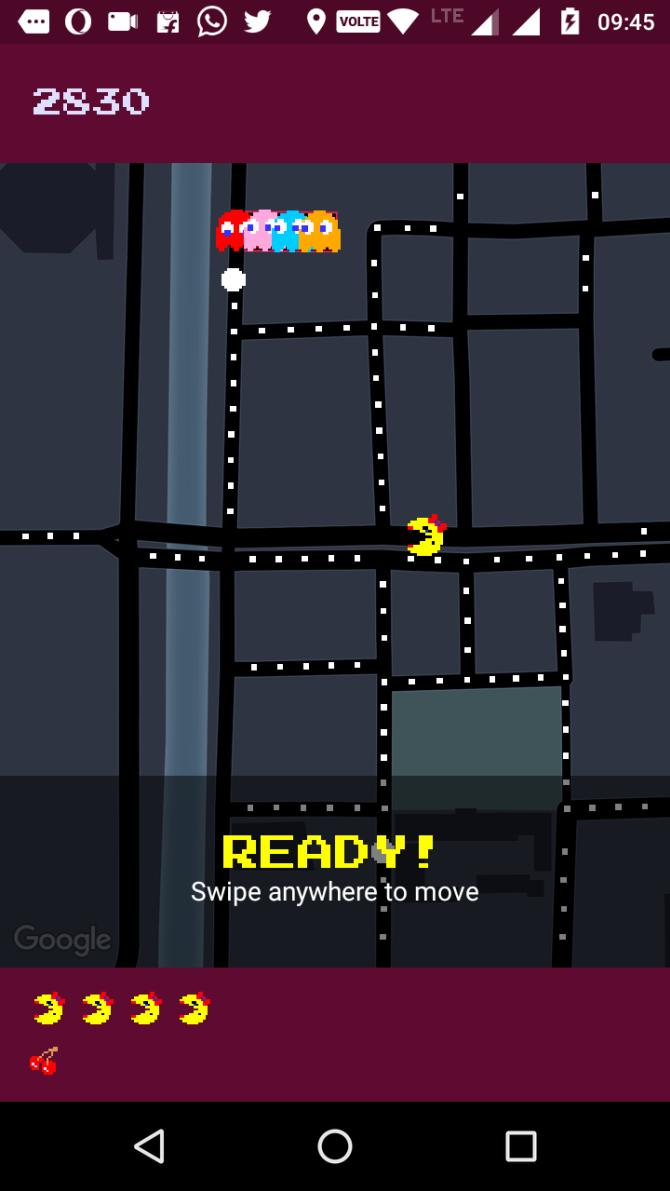 Pac Man on Google Maps