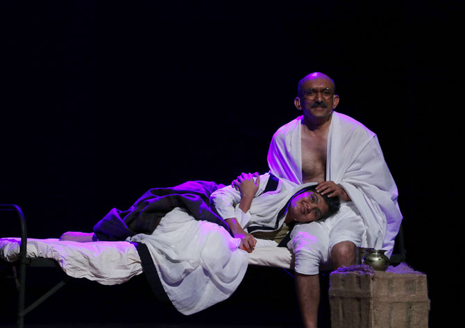 Gandhi with Kasturba