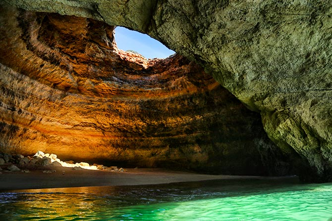 Algarve sea cave Portugal