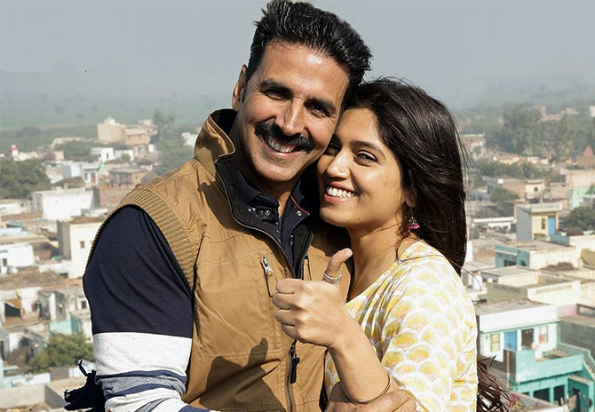 Akshay Kumar and Bhumi