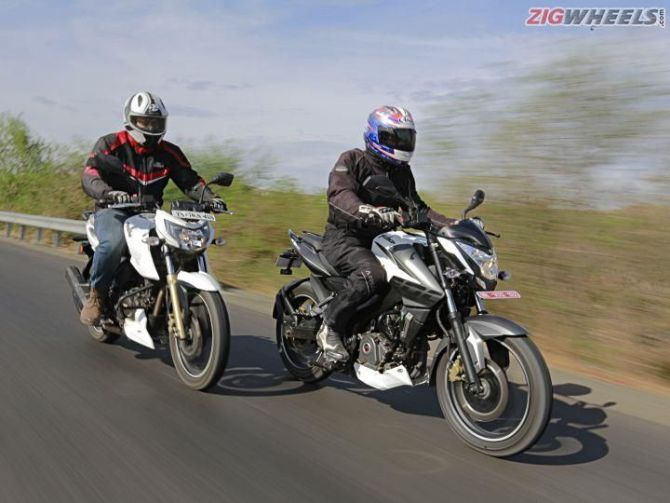 Pulsar NS 200 vs Apache RTR 200  And the winner is    - Rediff com