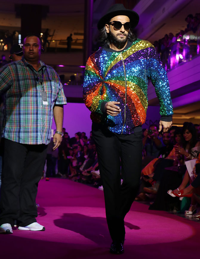 Ranveer Singh Manish Arora Showstopper Lakme Fashion Week