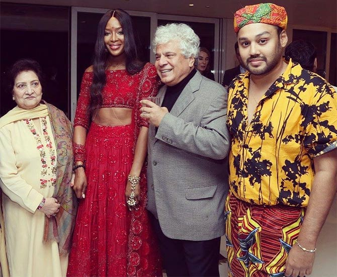 Naomi Cambell and Suhel Seth