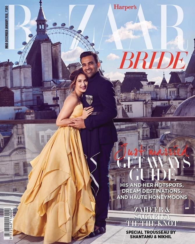 Harper's Bazaar Bride Zaheer Khan and Sagarika Ghatge
