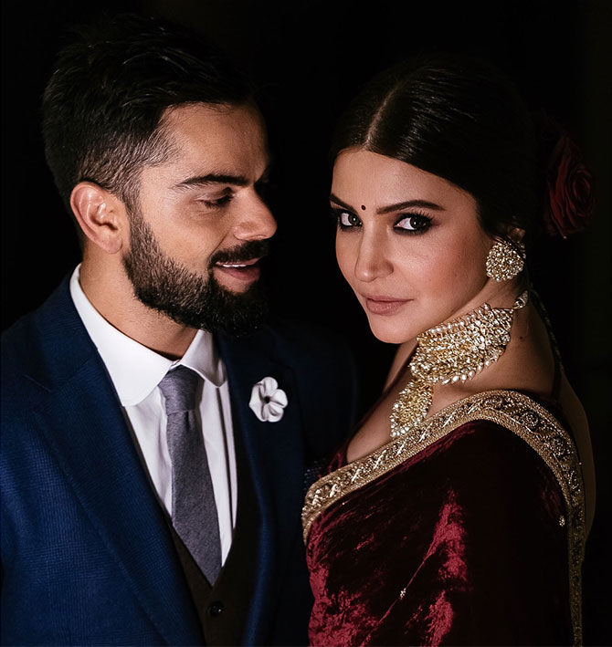 How I Designed Anushka And Virat S Wedding Wear Rediff Com