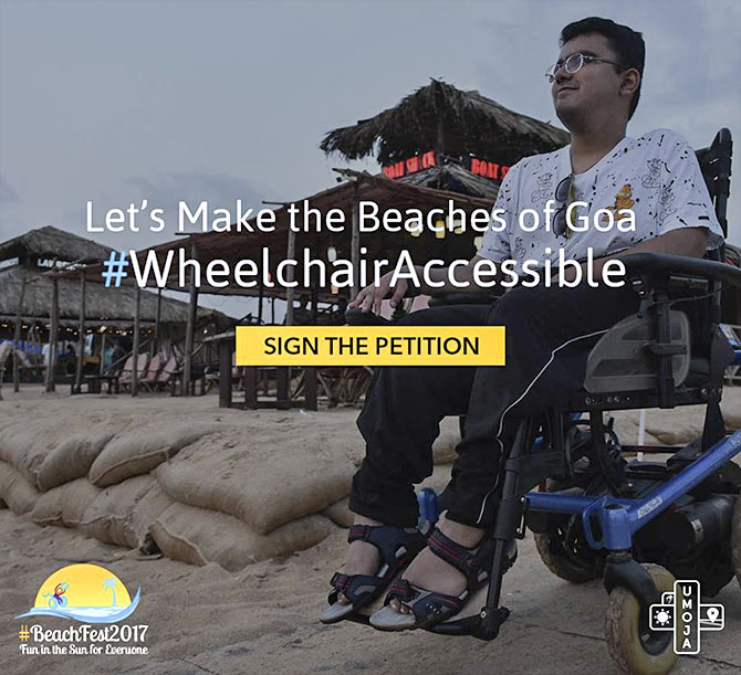 Making the Goan beaches accessible to the differently-abled
