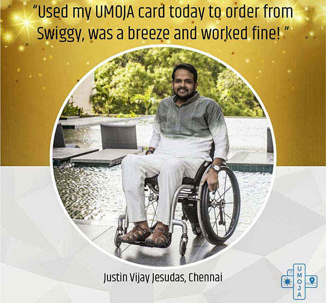 The Umoja card -- the first discount card in India for the differently abled