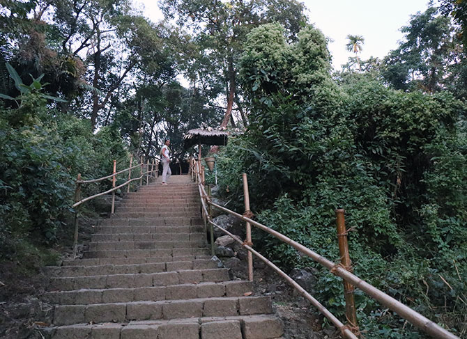 Upstairs to Riwai