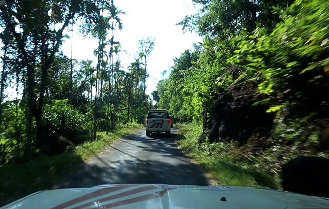 Driving in picturesque Meghalaya