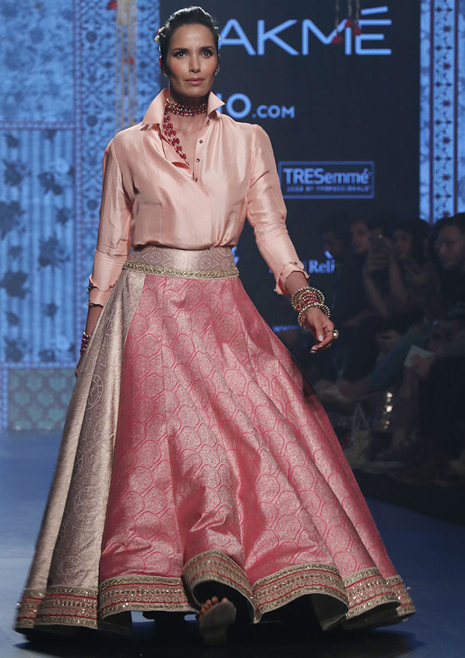 Padma Lakshmi for Tarun Tahiliani