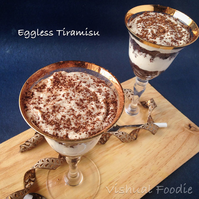 Eggless Irish Coffee Cake Recipe
