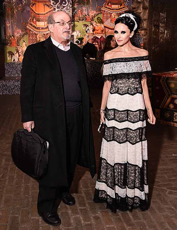 Salman Rushdie and Stacy Bendet