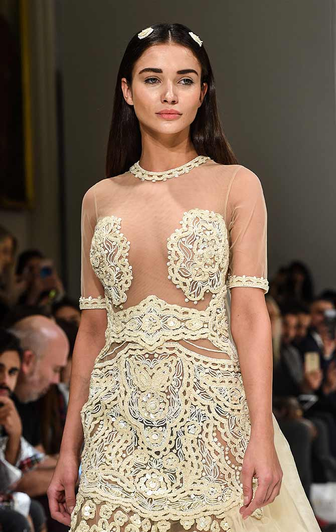 Would you wear this nude dress to your wedding? - Rediff