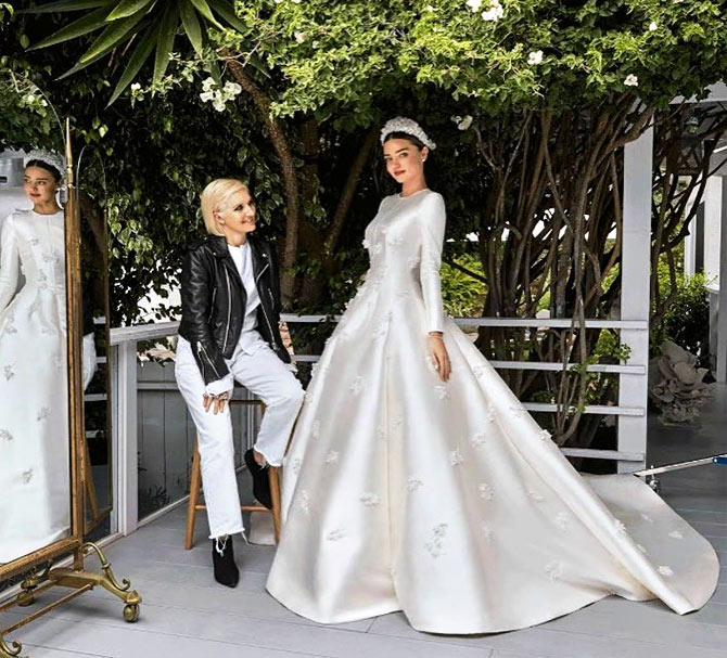 Wow! Miranda\'s wedding gown inspired by Princess Grace - Rediff.com ...