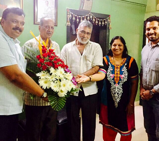 Raj Sheth's celebrations at home