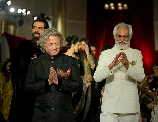Rohit Bal fashion show