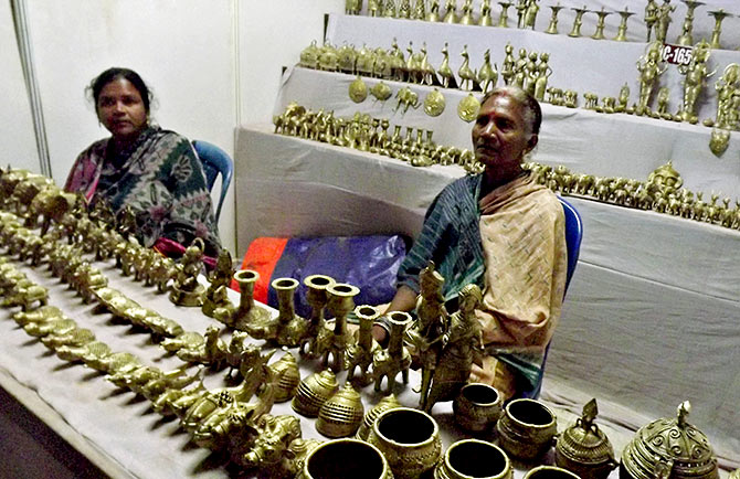 Tribals sell their wares