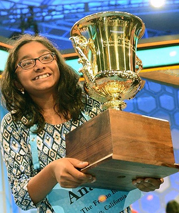 Latest News from India - Get Ahead - Careers, Health and Fitness, Personal Finance Headlines - Ananya, 12, takes home Spelling Bee title
