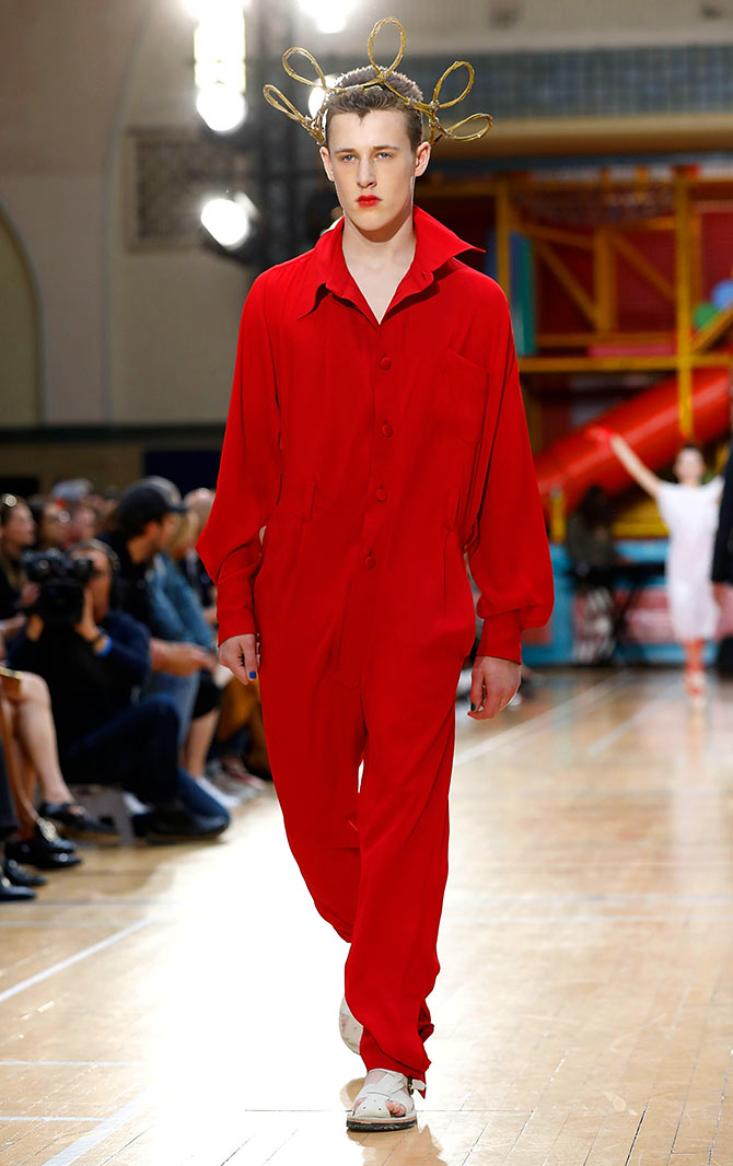 OMG! Men in gowns at the London Fashion Week - Rediff.com Get Ahead