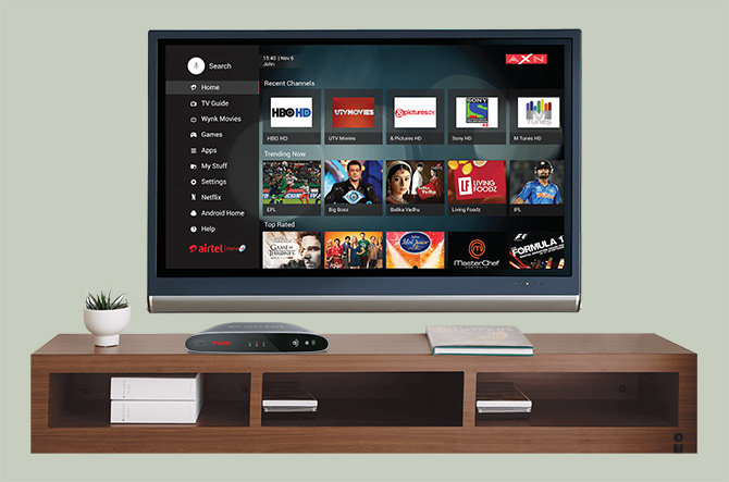 Airtel Internet TV Nextflix Internet TV