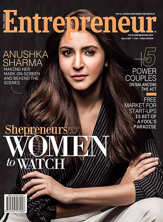 Anushka Sharma on Entrepreneur India magazine
