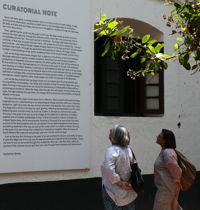 The curator's note at the Kochi Biennale