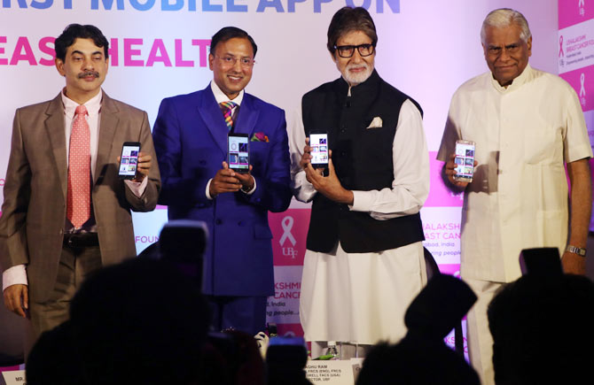 Amitabh Bachchan launched ABC of Breast Health app in Mumbai
