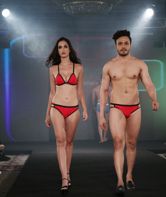 Yogesh Mittal collection at India Intimate Fashion Week
