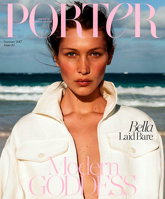 Bella Hadid on Porter magazine
