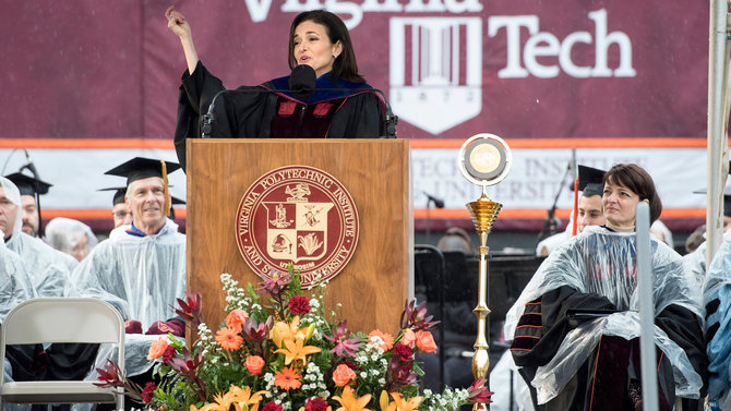 Sheryl Sandberg at Virginia Tech