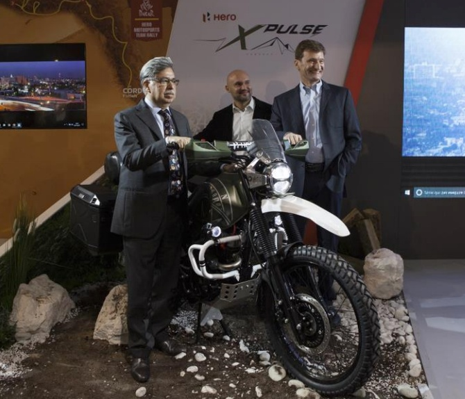 Hero Motors has unwrapped the new Hero XPulse concept in Milan Motorcycle Show