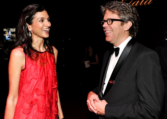Radhika Jones and author Jonathan Franzen