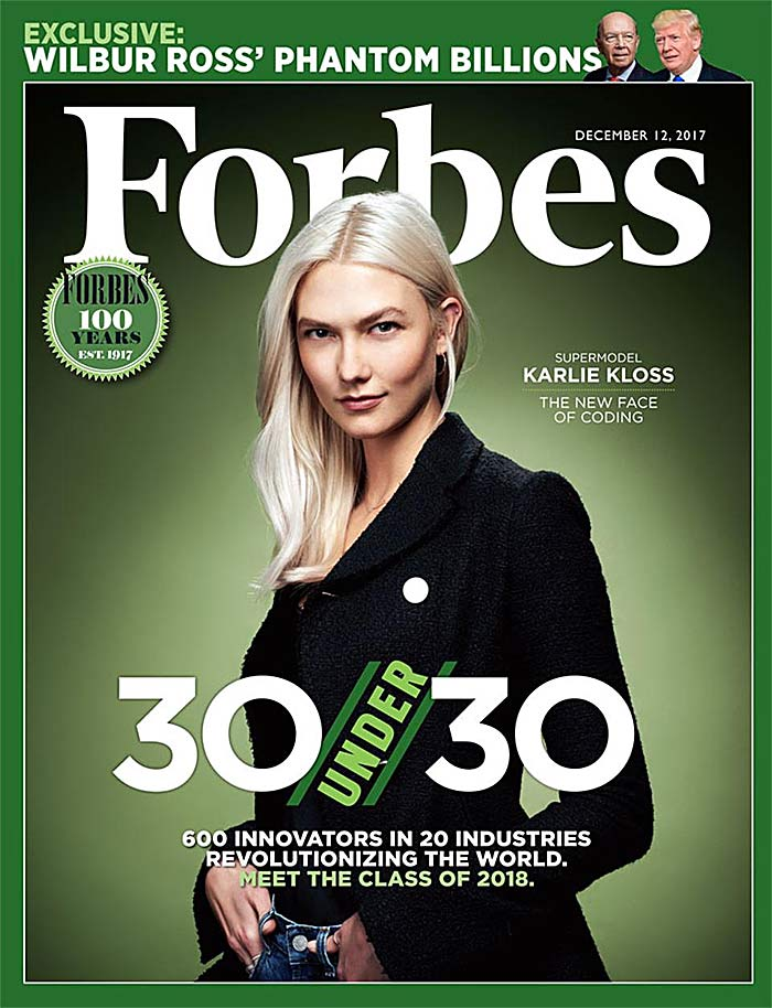 Karlie Kloss Forbes 30 Under 30
