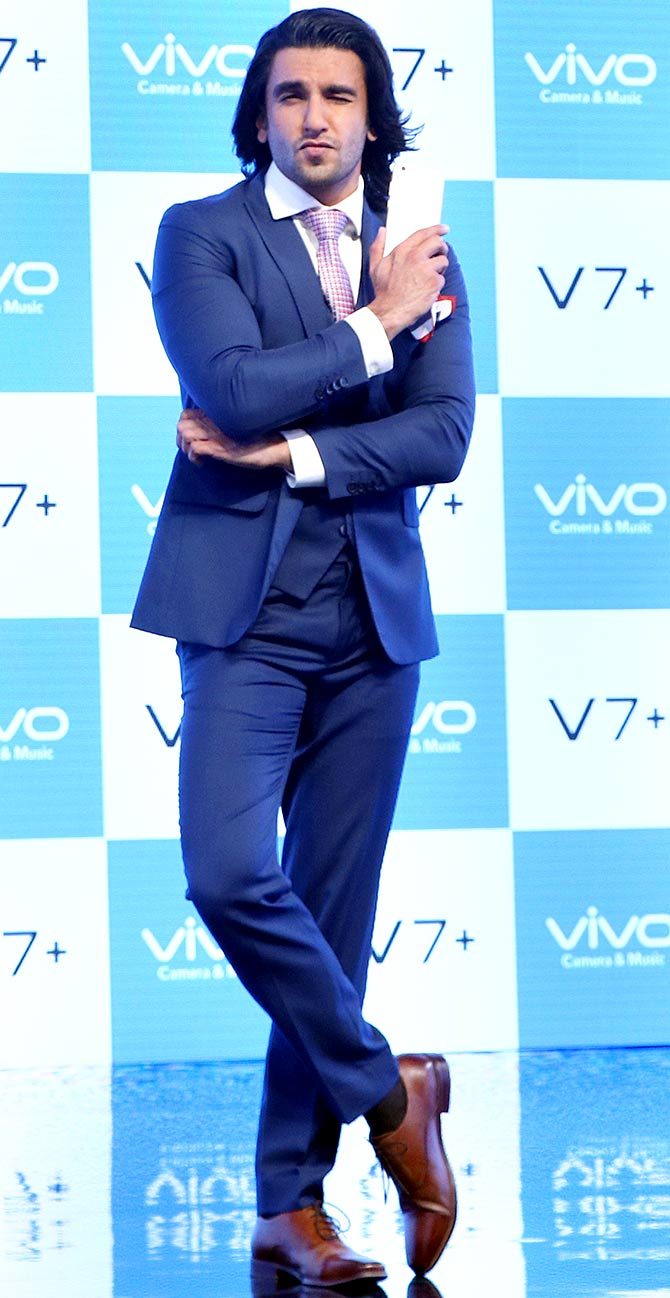 Ranveer Singh Vivo V7+ Launch