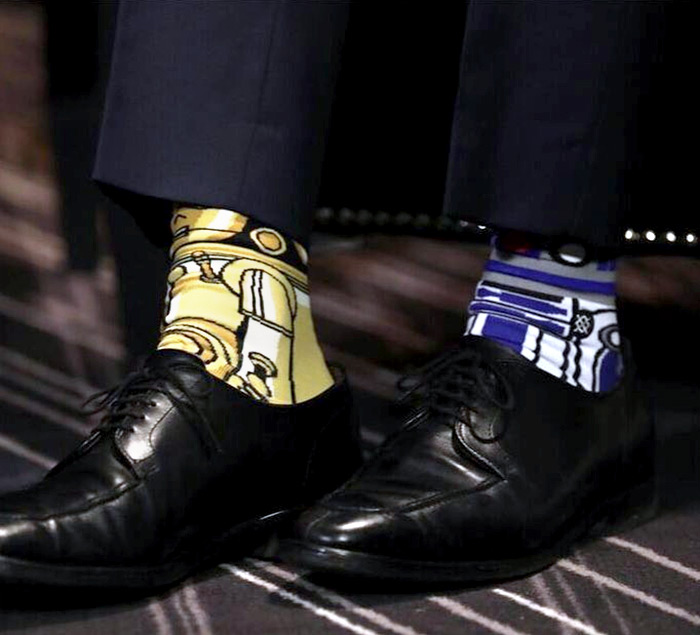 Justin Trudeau Star Wars socks