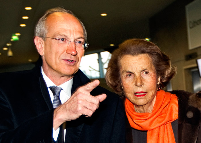 Lilaine Bettencourt and Jean Paul Agon