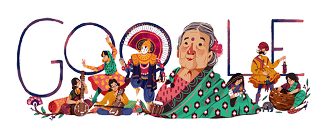 Google doodles freedom fighter Kamaladevi Chattopadhyay's 115th birthday