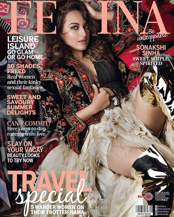 Latest News from India - Get Ahead - Careers, Health and Fitness, Personal Finance Headlines - Sonakshi's jaw-droppingly gorgeous cover