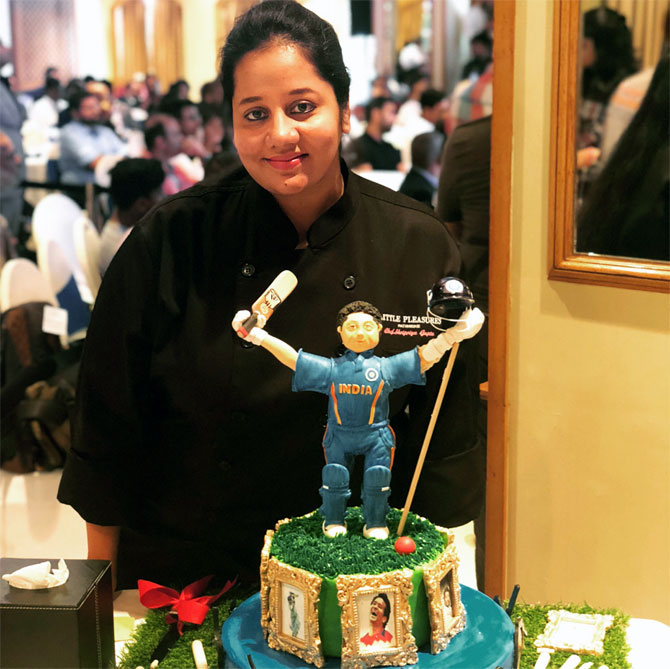 Birthday Cakes With Name Sachin ~ The chef who designed sachin s th birthday cake rediff get ahead