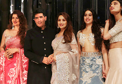 Latest News from India - Get Ahead - Careers, Health and Fitness, Personal Finance Headlines - Madhuri, Janhvi, Sangeeta: Manish Malhotra and his leading ladies