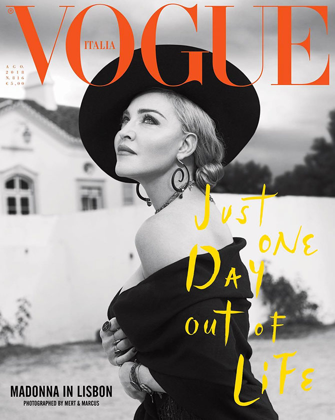 Madonna at 60! The Queen of Pop plays diva on mag cover